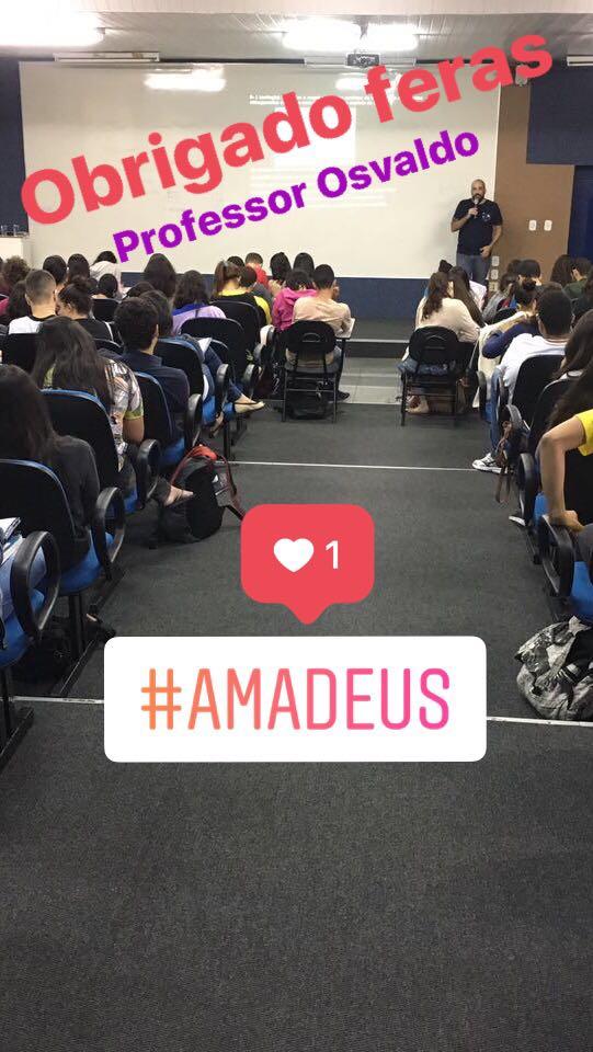 Professor Osvaldo participa da Revisão Amadeus