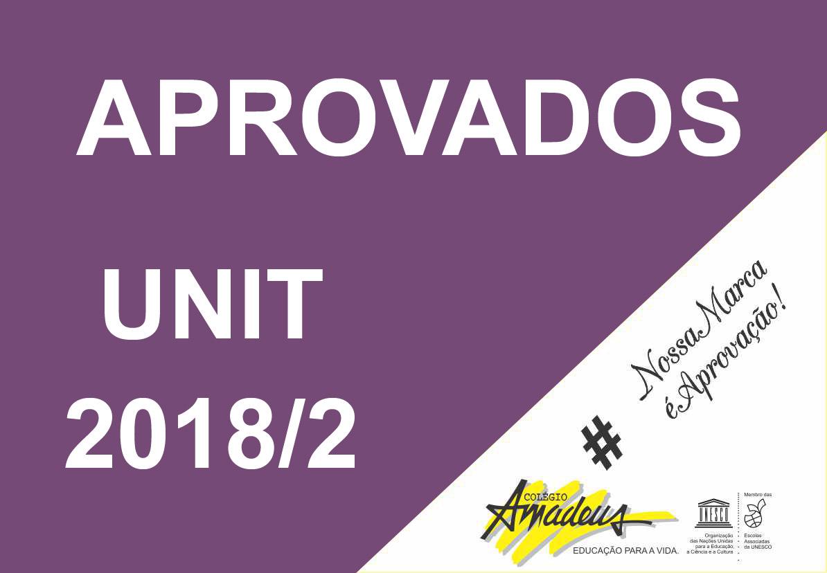 Aprovados Unit 2018/2